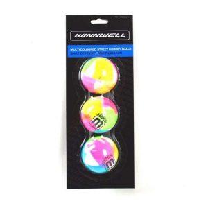 Hokejbalová loptička Winnwell Multicoloured 3ks